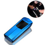 New IPRee® Outdoor Electronic USB Double Arc Lighter Windproof Metal Electric Pulsed Ignitor Starter