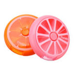 New 7 Slots Round Storage Tool Box Screw Nut Orange Pink Color Box