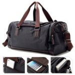 New Men Faux Leather Leisure Gym Bag Large Capacity Handbag