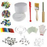 New 14Pcs Microwave Kiln Kits  DIY Fusing Glass Set Jewelry Crafts Pendant Making Creative Gifts Decor