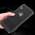 New Bakeey Carbon Fiber Brushed Finish Soft TPU Protective Case For iPhone XR