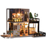 New Miniature Doll house DIY Handcraft Kit Furniture Wooden House Romantic House