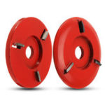 New 90mm Diameter 16mm Bore Red Power Wood Carving Disc Angle Grinder Attachment