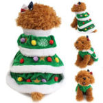 New Christmas Festival Tree Pet Dog Cat Coat Puppy Warm Clothes Costumes Apparel Dress