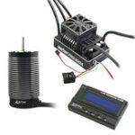 New ZTW 3PCS 1/5 Beast Pro 300A Full Waterproof ESC + BP70210 620KV 4 Poles Motor + LCD Program Card