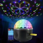 New Remote Control Crystal Magic Ball 6 LED Stage Light Party Disco DJ Club KTV
