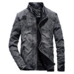 New Mens Winter Vintage Stylish Fleece Lining Warm Denim Jacket
