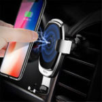 New Rock Upgraded 5W 7.5W 10W Intelligent Qi Wireless Fast Charge Auto Lock Car Holder for Mobile Phone