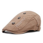 New Men Woman Letter Embroidered Beret Cap  Forward Hat