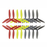 New 8 Pairs KINGKONG/LDARC 7040 3-blade CW CCW Propeller Yellow Red Black Gray for RC Drone FPV Racing