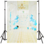 New 5x7FT White Room Blue Balloon Birthday Theme Photography Backdrop Studio Prop Background