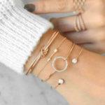 New 4 Pcs Sweet Bracelet Bangle Set