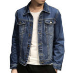 New Mens Slim Turn Down Collar Spring Autumn Casual Denim Coats