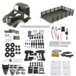 New JJRC Q60 Kit 1/16 2.4G 6WD Off-Road Military Truck Crawler RC Car