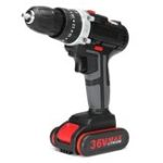 New 36V Cordless Lithium Eletric Drills Impact Power Drill 28N.m 3000mAh 18+3 Torque Stage Drill Tools