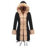 New Women Casual Thicken Fleece Hooded Cardigan Coats