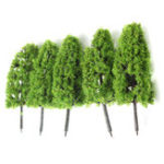 New 20pcs Dark/Light Green Trees Model Train Railway Forest Wargame Landscape