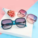 New Women's Fashion Sunglasses Large-framed Anti UV400 Glasses