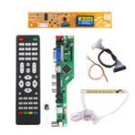 New T.RD8503.03 Universal LCD LED TV Controller Driver Board TV/PC/VGA/HDMI/USB+7 Key Button+2ch 6bit 30pins LVDS Cable+1 Lamp Inverter