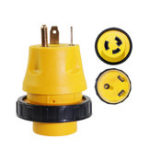 New RV Electrical Locking Adapter 30A Male to 30A Female Locking Plug Connector