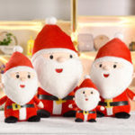 New 25cm 30cm 50cm Santa Claus Doll Christmas Stuffed Plush Toy Cute Gift