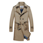 New Mens Mid Long Thick Warm Double Breasted Stylish Trench Coat