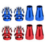 New RJX M4 4mm Metal Transmitter Stick Anti-slipping Cap for JR XG8 11 14 RC Helicopter Airplane