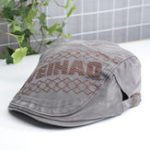 New Unisex Embroidered Letters Peaked Cap Duckbill Hat