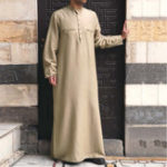 New Mens Vintage Tunic Style Long Shirts Popover Kaftan Dress