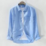 New Mens Classic Brief Fashion Breathable Cotton Linen Shirts