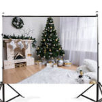 New 7x5FT White Room Christmas Tree Fireplace Theme Photography Backdrop Studio Prop Background