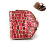 New Genuine Leather Stone Pattern Leopard Short Wallet