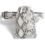 New Faux Leather Snake Pattern Waist Bag Wallet Phone Bag