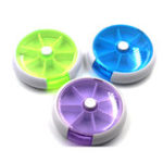 New 6 Slots Round Storage Tool Box Screw Nut Colorful Box Case