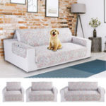 New 1/2/3 Optional Seat Printing Pet Sofa Couch Protective Cover Removable Strap