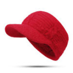 New Women Outdoor Sport Fleece Lining Empty Top Knitted Hat