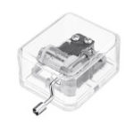 New DIY 18 Tone Crystal Mini Hand Music Box With Case