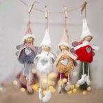 New Stuffed Plush Doll Christmas Tree Decoration Cute Angel Pendant Bag Decor