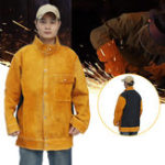 New Jacket Cow Cowhide Welding Leather Apron Protective Coat Soldering Safety Apparel Flame-proof Clothes