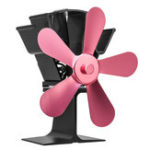 New 5 Blades Heat Powered Stove Fan For Wood Burner Fireplace Eco Friendly