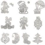 New Christmas Tree Wreath Cutting Mold Metal Cutting Dies Scrapbooking Photo Album DIY Decoration