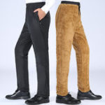 New Mens Winter Thickened Warm Double Wear Loose Casual Pants