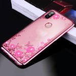 New Bakeey Diamond Plating Clear Cover Soft TPU Flower Protective Case For Xiaomi Mi MAX 3