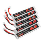 New 5Pcs URUAV 3.8V 300mAh 40/80C 1S HV 4.35V PH2.0 Lipo Battery for Eachine TRASHCAN Snapper6 7 8 UK65