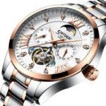 New KINYUED JYD-J050 24 Hours Display Automatic Mechanical Watch