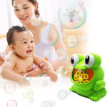 New Frog Automatic Bubble Blower Maker Music Machine Bath Children Kids Outdoor Toy Bubble Blower