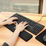 New 440mm*110mm Anti-Slip Wrist Rest Mouse Pad For 104 Keys Keyboard For Desktop Mechanical Keyboard