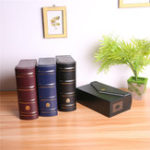 New Storage Box For Book Banknotes Currency Holder Letter Paper Money Black