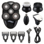 New 5 In1 Wet Dry 4D Electric Shaver Razor for Men Waterproof