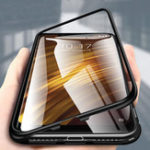 New Bakeey 360° Magnetic Adsorption Metal Tempered Glass Flip Protective Case for Xiaomi Pocophone F1